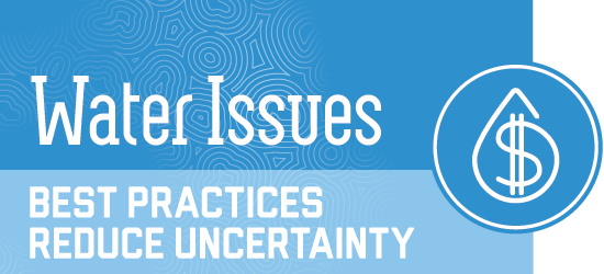 water issues - best practices to reduce uncertainty