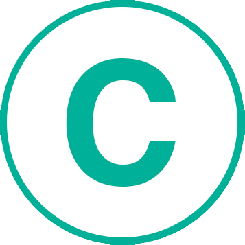 icon of the letter C