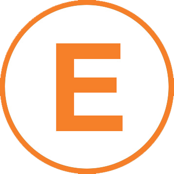icon of the letter E