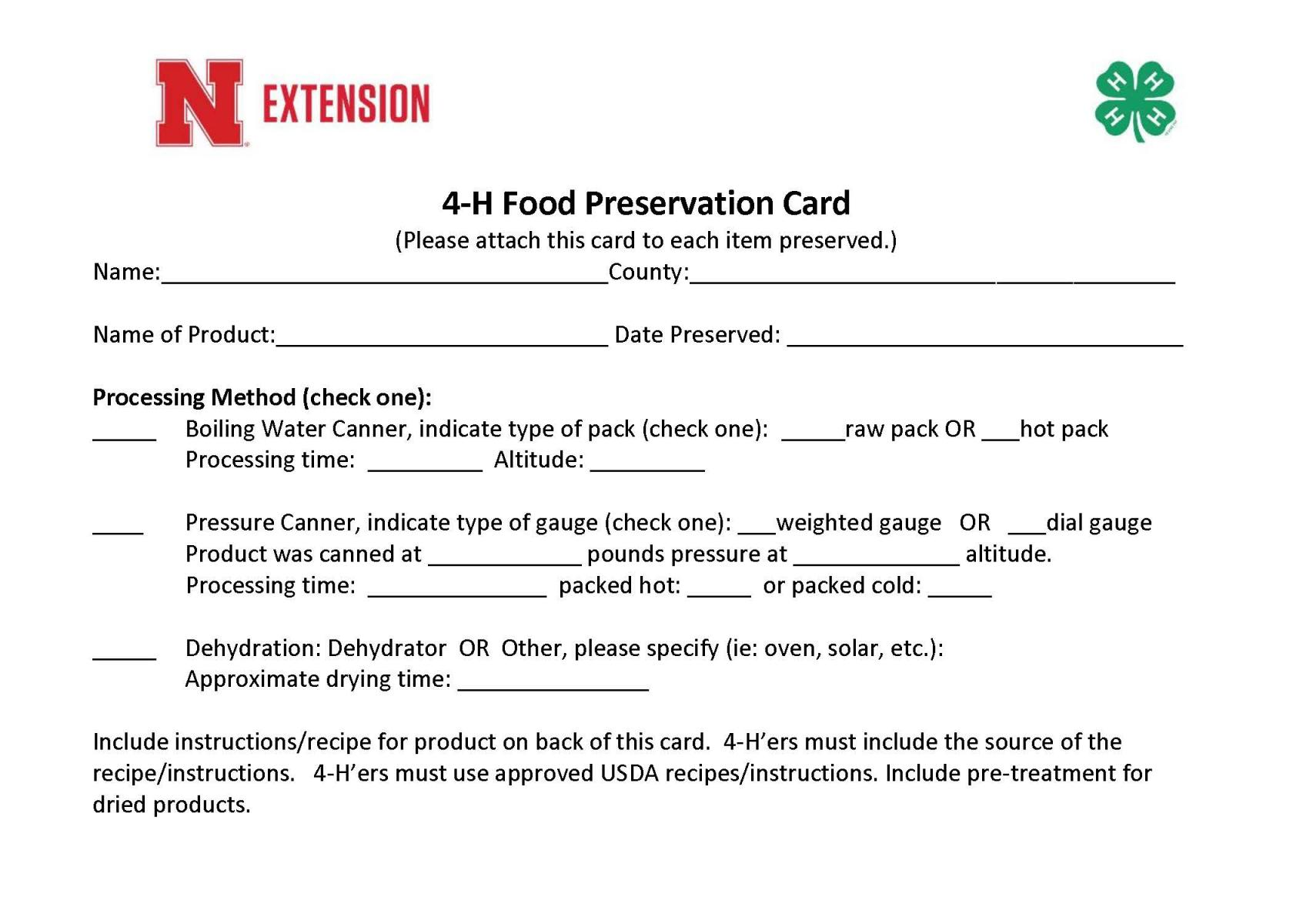 Food preservation information cards nebraska extension 4 h food preservation cardpdf fillable forumfinder Images