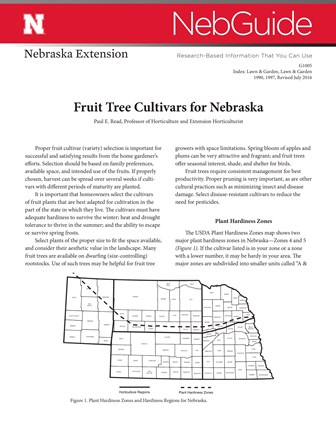 Fruit Tree Cultivars for Nebraska (G1005)