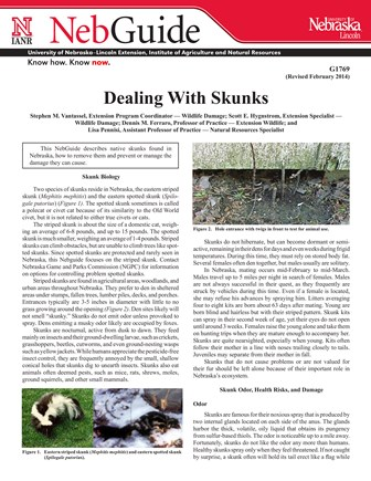 Dealing with Skunks (G1769)