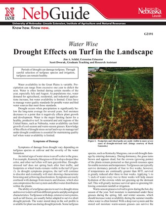 Water Wise: Drought Effects on Turf in the Landscape (G2191)