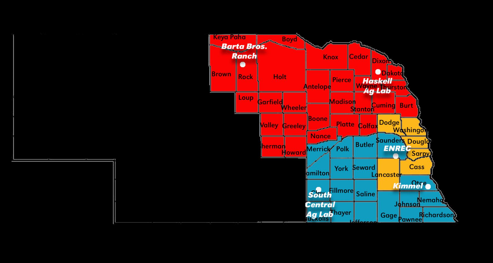 enre districts map nebraska extension