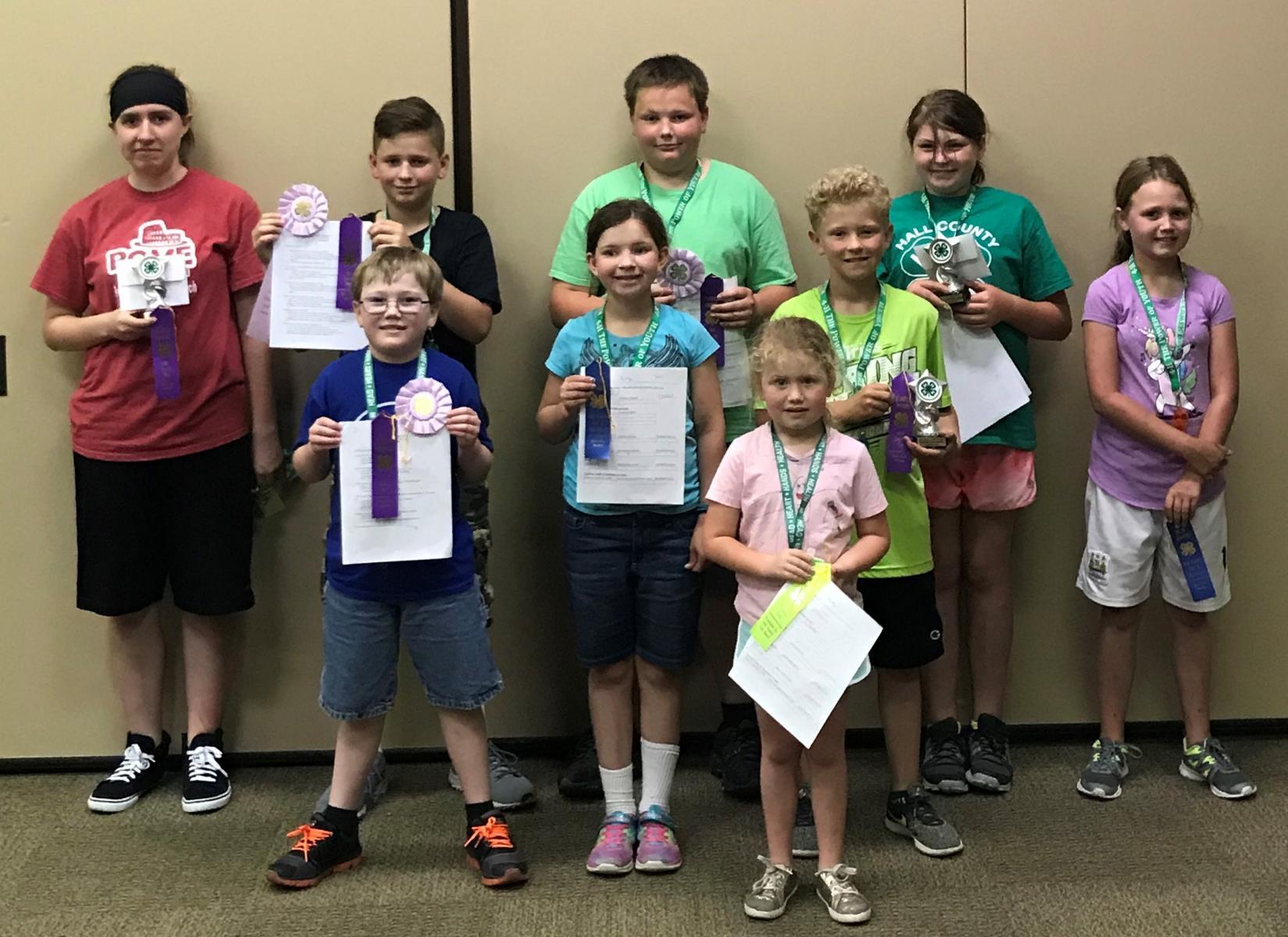 Kids holding ribbons