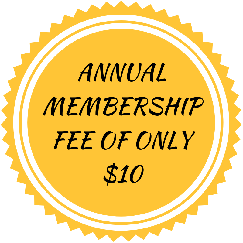 Annual membership fee of only $10