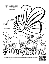 Happy Orchard Coloring Page 2
