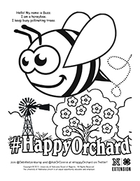 Happy Orchard Coloring Page 3