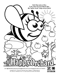 Happy Orchard Coloring Page 1