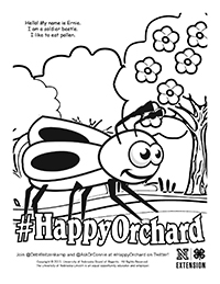 Happy Orchard Coloring Page 4