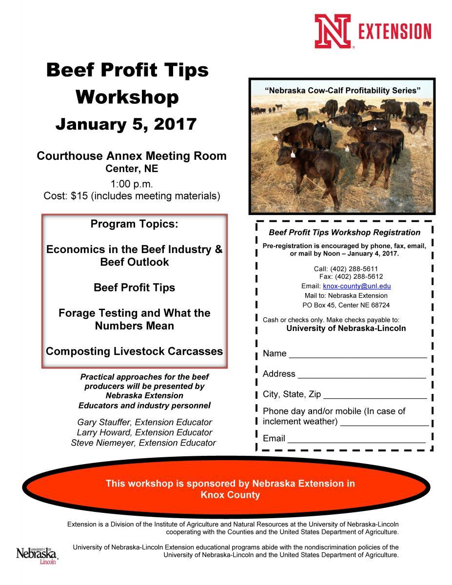 Beef Profit Tips Workshop | Nebraska Extension