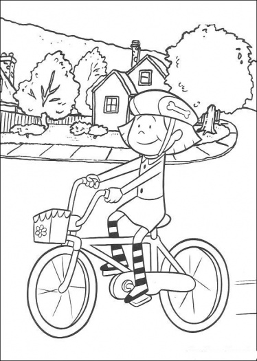 emily - Bicycle Coloring Book